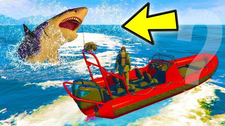GTA 5 - SECRET MEGALODON SHARK EASTER EGG!!! (Where to Find It)