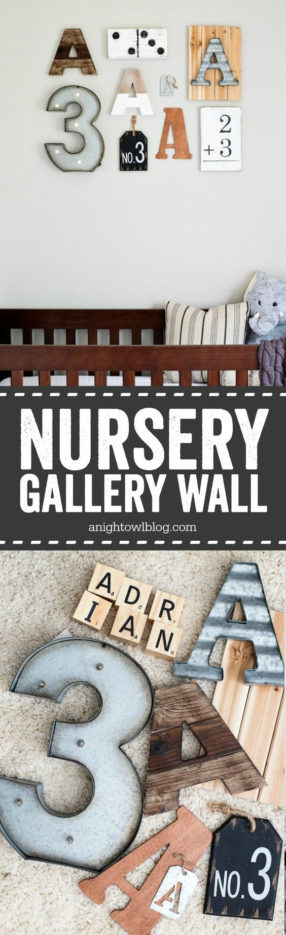 Tips on how to curate and create a personalized Nursery Gallery Wall!