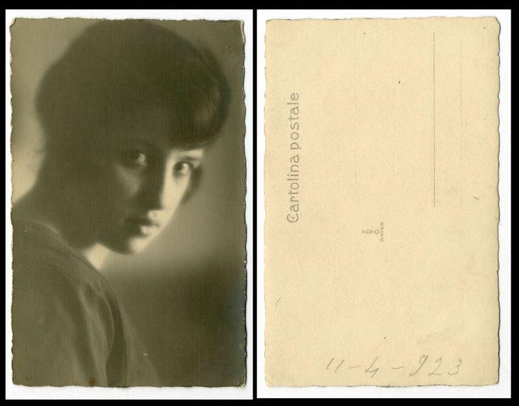NERINA c FOTO RITRATTO D EPOCA DI SANTINO SALARDI-SAN GIOVANNI IN PERSICETO 1923