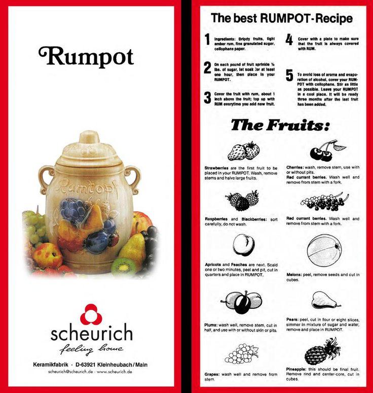 Scheurich Rumtopf Instructions