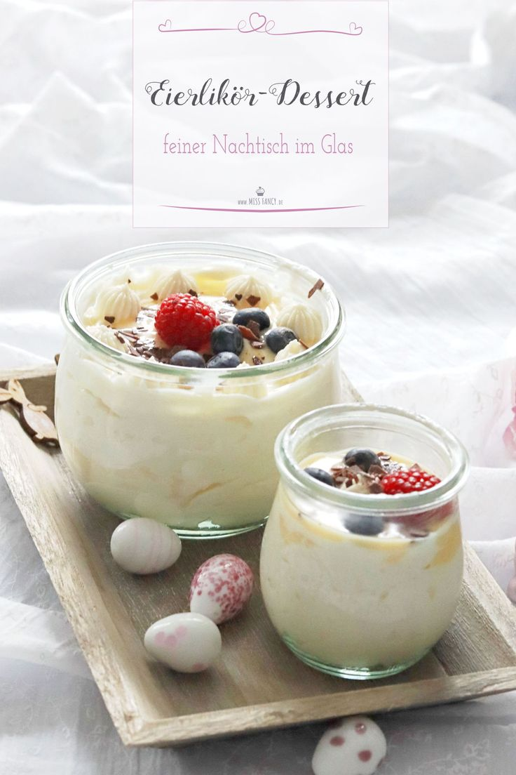 Ruck Zuck dessert with eggnog, tastes not only at Easter! #Dessert #Ornament …   – Alltagskueche – Rezepte für jeden Tag