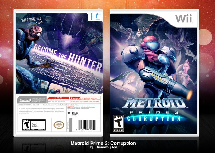 Metroid Prime 3: Corruption Wii Box Art Cover by RunawayRed