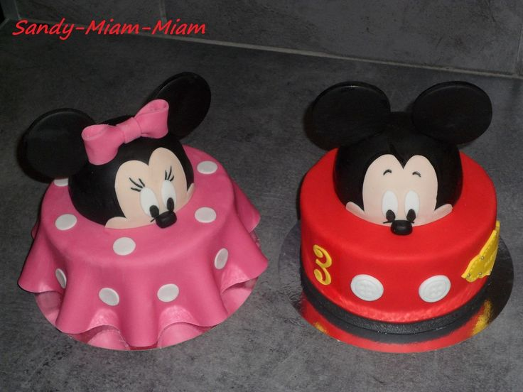 Préférence 162 best mickey and minnie family cake images on Pinterest  HR62