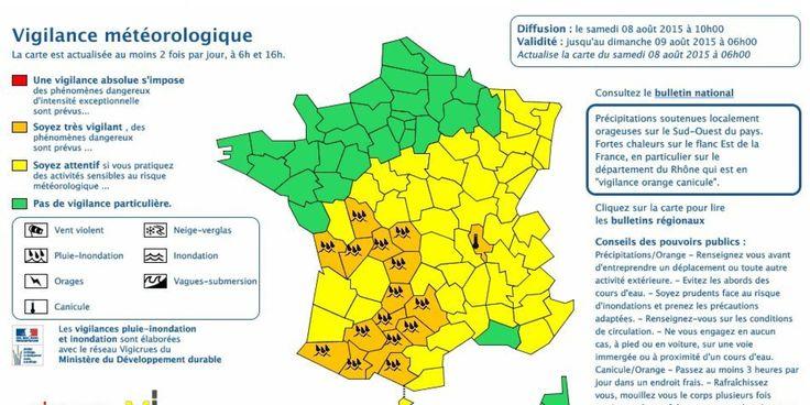 """Orages: 15 départements en vigilance orange """"pluie-inondation"""""""