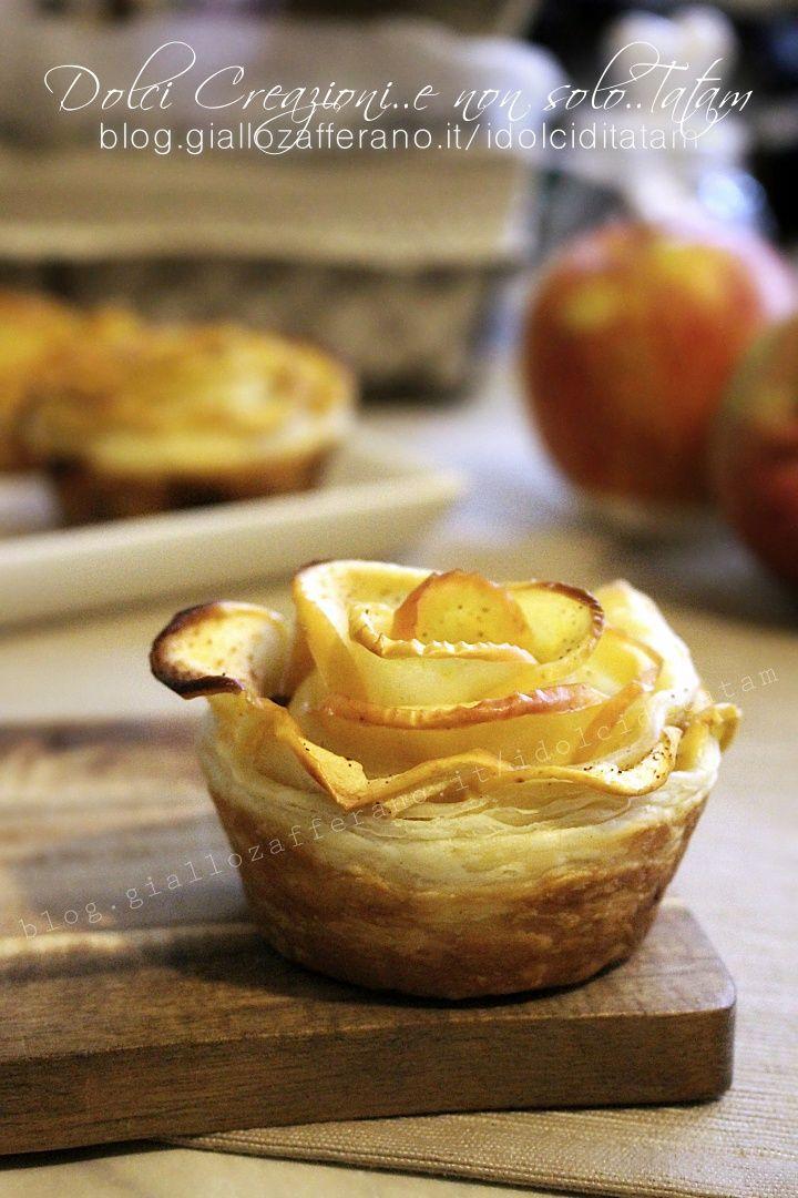Rose di mele in sfoglia