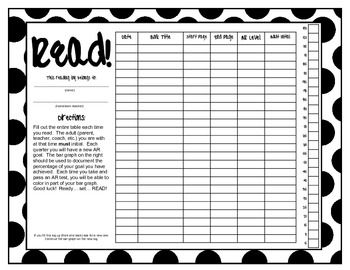 Reading Log - with graph for student accountability: Hold Student, Student Accounting, Teacher, Bar Graph