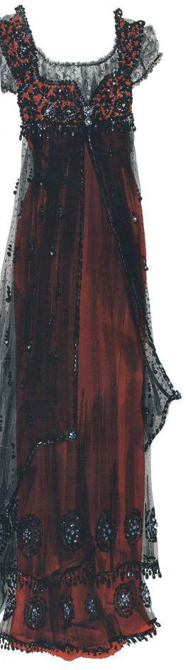 Roses's titanic gown