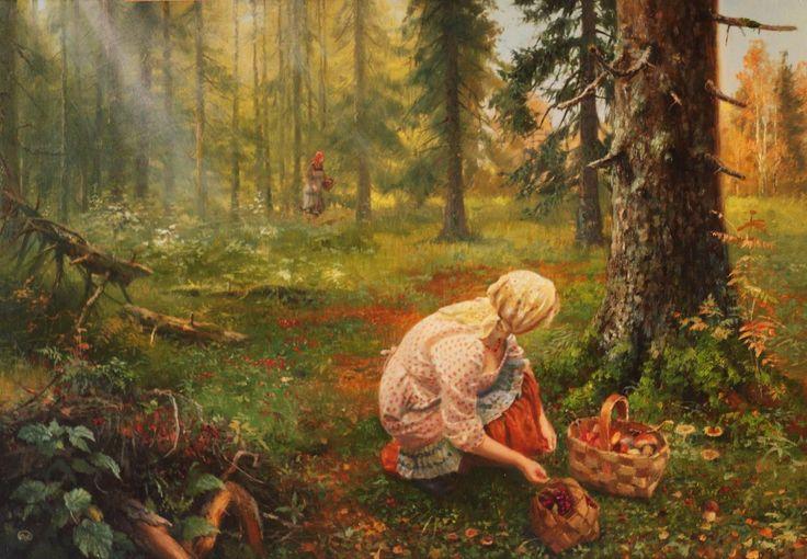 Валентин Михайлович Сидоров (род. 1928) С грибами. 1975 г.