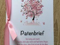 """Patenbrief """"Baum des Lebens"""" in rosa"""