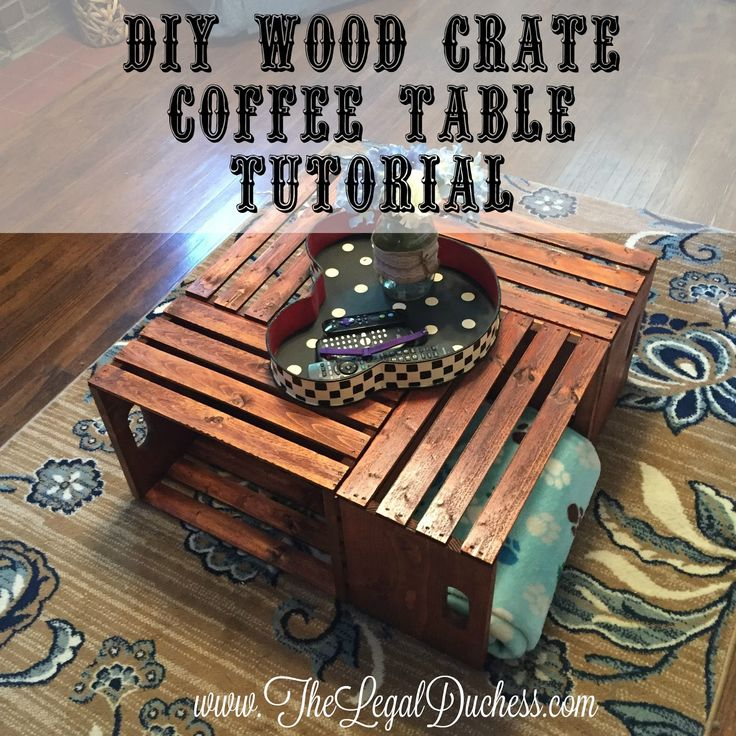 Best 25+ Wooden crate coffee table ideas on Pinterest ...