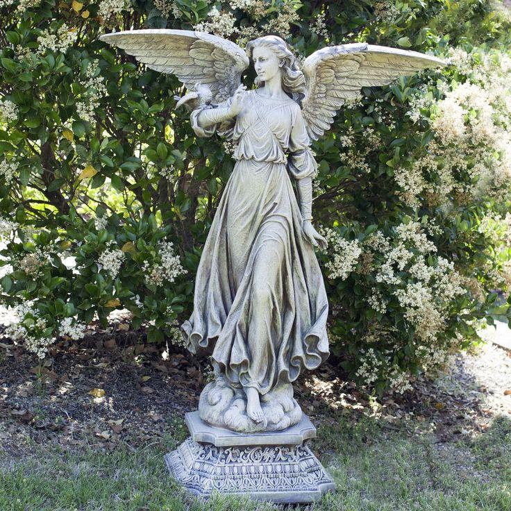 15 must see Angel Garden Pins Angels garden Esttuas do