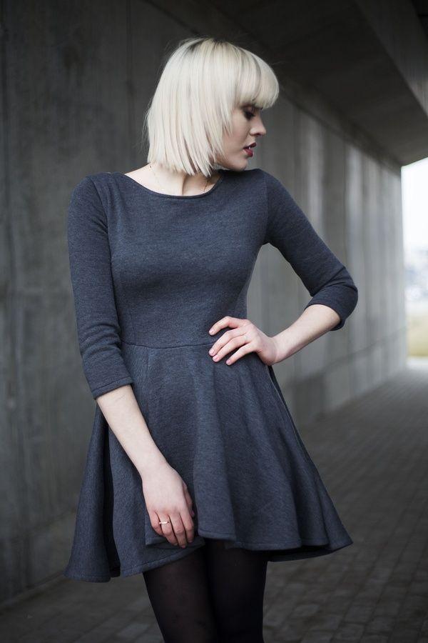 Sukienka damska sukienka tył dłuższy gr. , od projektanta monnom boutique | Mustache.pl