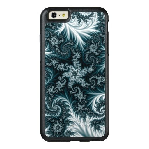 Cyan and white fractal pattern. OtterBox iPhone 6/6s plus case #iphonecase #iphone6case #iphone6pluscase #abstract, #fractal, #illustration, #frost, #pattern, #flowers, #blue, #cyan, #green, dark, bright, colorful, #aquamarine, #lace, #tapestry, #customized #personalized #POD #graphics #artwork #buy #sale #giftideas #zazzle #discount #deals #gifts #shopping #mostpopular #trendy #cool #best #unique #stylish #gorgeous