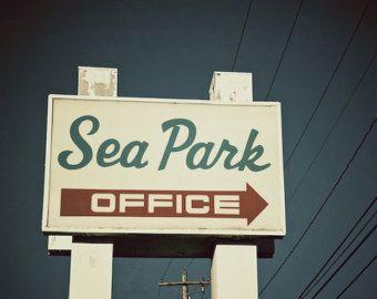 Retro Motel Sign Beach Decor Sea Dip Motel by BrandonAddisArt