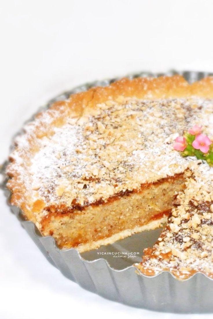 Crostata frangipane alle nocciole ricetta semplice dal blog @vicaincucina - ©Victoria Stan Photography