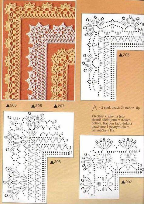 Bordes de ganchillo  Crochet Edges Pattern...