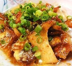 """Stir-fried sliced pork & Pleurotus eryngii with mayo & soy sauce"" - japanese recipe/豚バラエリンギのマヨ醤油炒め"