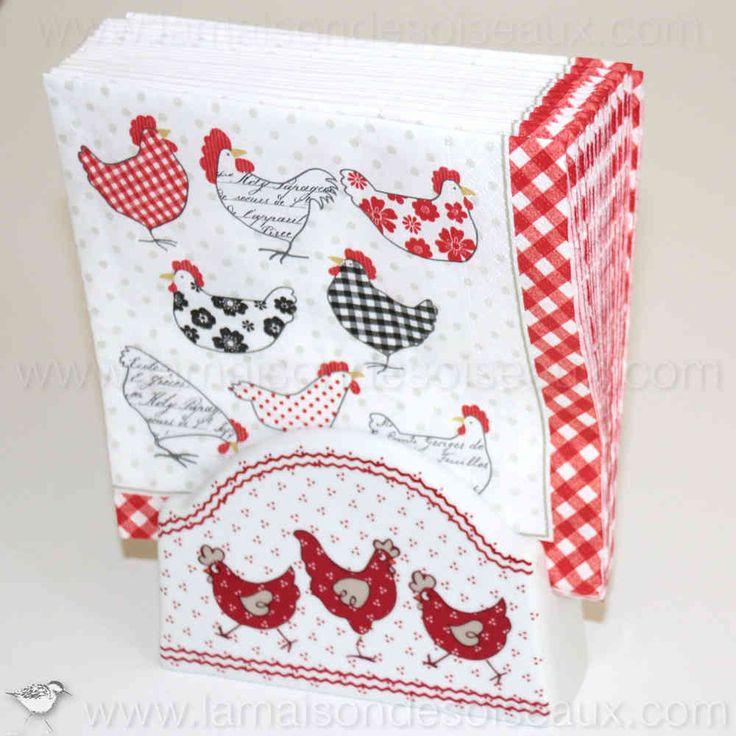 17 best images about chicken tableware vaisselle poule - Porte serviette en papier ...