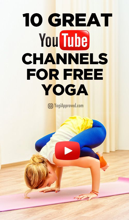 10 YouTube channels with yoga videos -- a great resource!