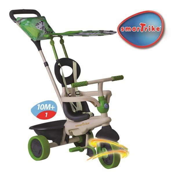 """http://idealbebe.ro/smart-trike-tricicleta-safari-in-zebra-touch-steering-p-14636.html  - Roti din cauciuc care absorb socurile    - Parasolar """"Safari"""" cu protectie UV (minimum 30% ) reglabil si detasabil    - Cos pentru depozitarea jucariilor"""