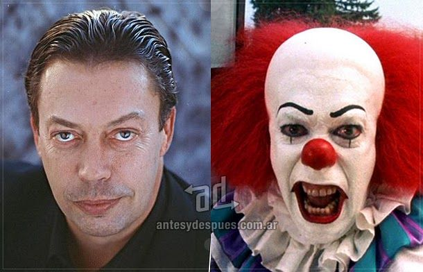 Tim Curry as Pennywise from Stephen King's Novel (Made into Movie) IT