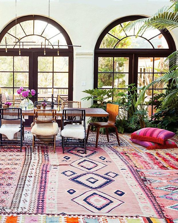 Love these colorful rugs!