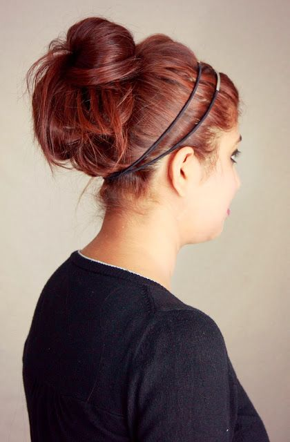 DIY Hairstyle : Easy Messy Updo With Headband