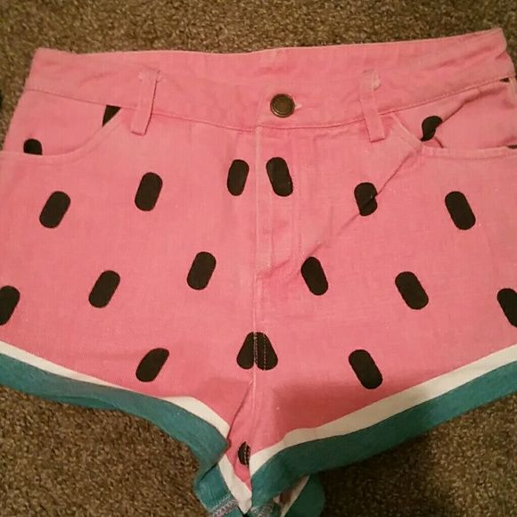 Lazy oaf watermelon shorts Freakn cute watermelon shorts that are fun to wear for summer Lazy Oaf Shorts