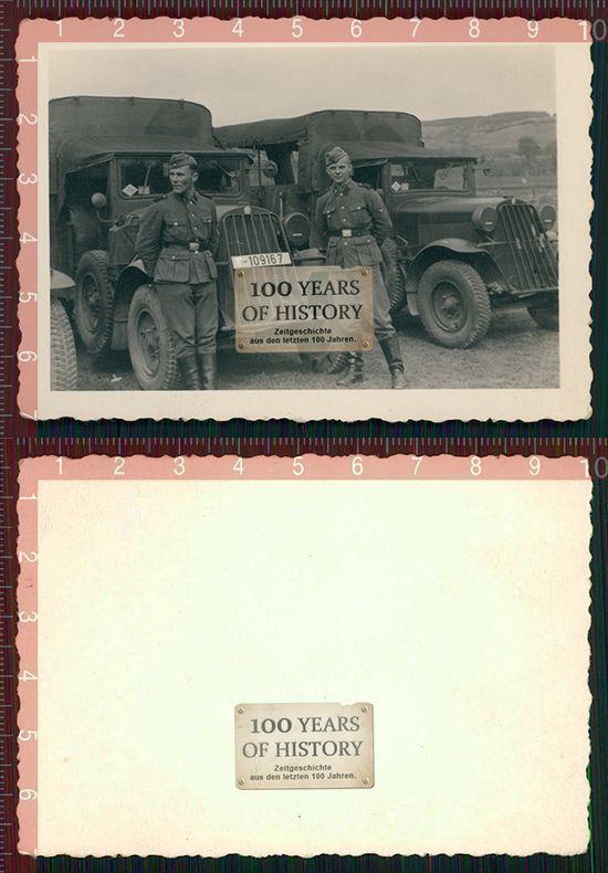 Orig. Foto LKW Beute Fahrzeug Soldaten Tarnkleidung 109167 | eBay