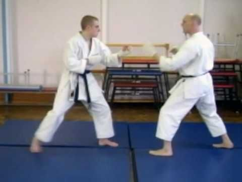 Shotokan Karate Kumite Techniques - YouTube