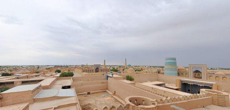 La misteriosa ciudad Jiva fue capaz de salvar la imagen de una ciudad oriental exótico en su parte antigua - fortaleza Ichan-Kala.