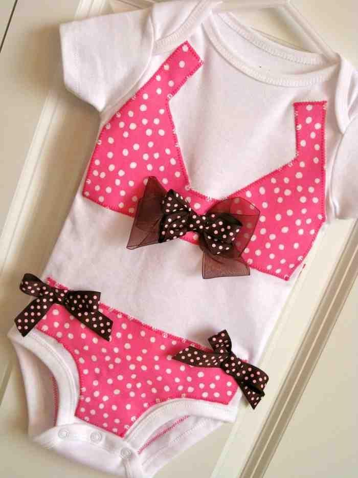 89e2dc33f Mädchen-Baby-Shirts-bedruckt-witzig-Bikini-pink-Bad…