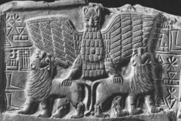 주(Zu)  -사람의 몸에 사자의 얼굴을 가진 수메르의 새. 신들의 운명이 적혀있다는 운명의 문자판 투프시마티를 엔릴에게서 빼앗아가는 존재이며 신들에게 위협이 되었던 존재. 그 힘이 강해서 아무도 상대하려 들지 않다가, 니누르타가 주를 징벌하고 석판을 빼앗았다고 한다.
