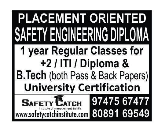 Are you looking for a Industrial Safety courses? Safety catch Safety Training & Consulting gives you the  best diploma courses at Cochin, in Kerala. http://safetycatchinstitute.com
