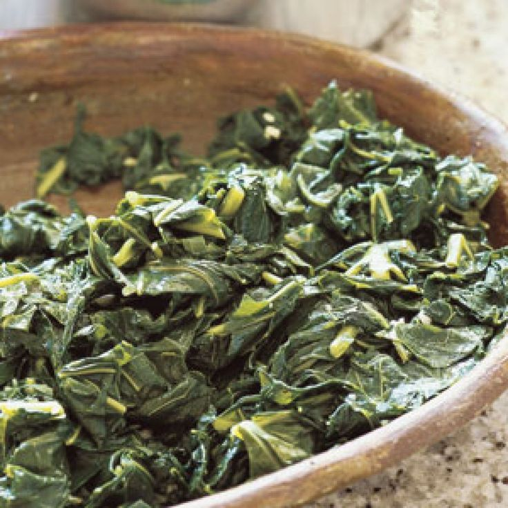 A favorite side dish to Southern meals, this recipe first boils the greens to mellow their inherent bitterness, and finishes by sautéing in butter.