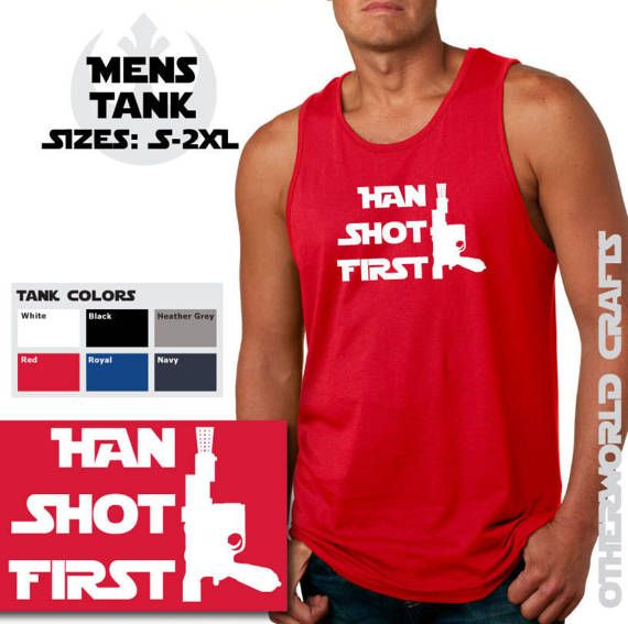 Han Shot First  Mens Tank Top  Star Wars