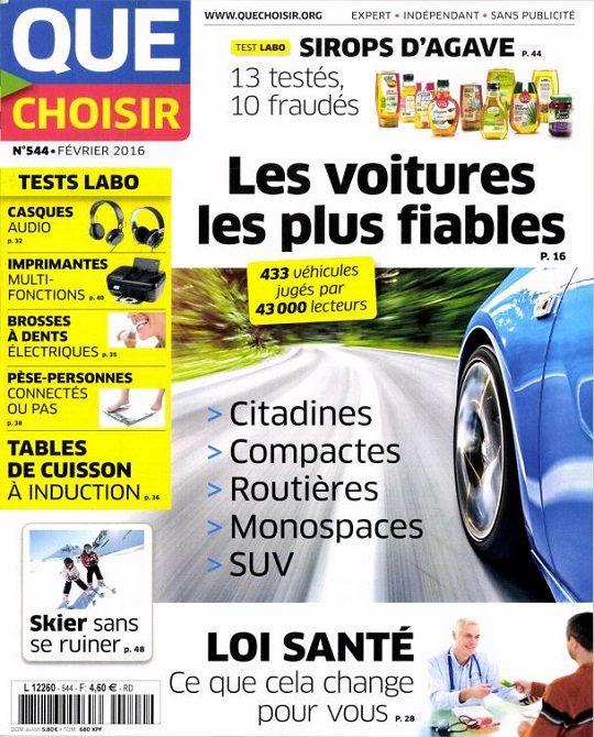 Que Choisir N°544 – Fevrier 2016 French | PDF | 68 Pages | 40Mb Que choisir est un magazine mensuel de l'association UFC-Que Choisir, qui publie des tests comparatifs de produits et de…