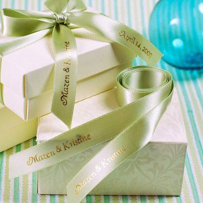 Personalised Wedding Gift Ribbon : ... wedding favours wedding reception wedding gifts personalized wedding