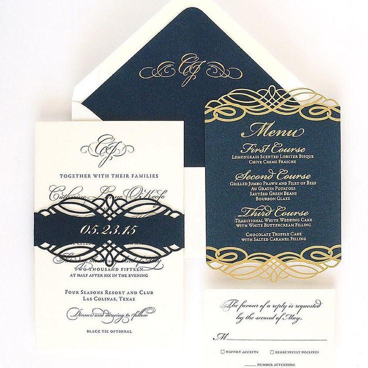 Love our pretty classic invitation suite and