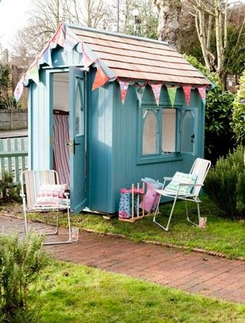 Spruce up your garden shed - dont let it become neglected  ruin the look of your summer party. Give it a good wipe down  when dry, paint w/ a outdoor wood specific paint from Cuprinol or Ronseal. Then finish off the look by hanging decorations from the sides for a summer beach hut look. The Posh Shed Company make a large selection of beautiful ready made  custom garden sheds.
