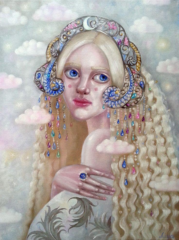 Капелька \ Little drop #oilpainting #painting #decorative #alarusse inspiration #tenderness #кокошник