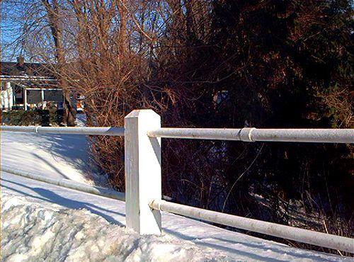 Fence Pictures: Fence Pictures: Variation on Post-and-Rail Style