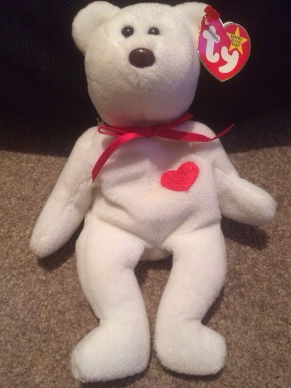 ULTRA Rare Valentino Beanie Baby - Misspelled Tags and PVC pellets