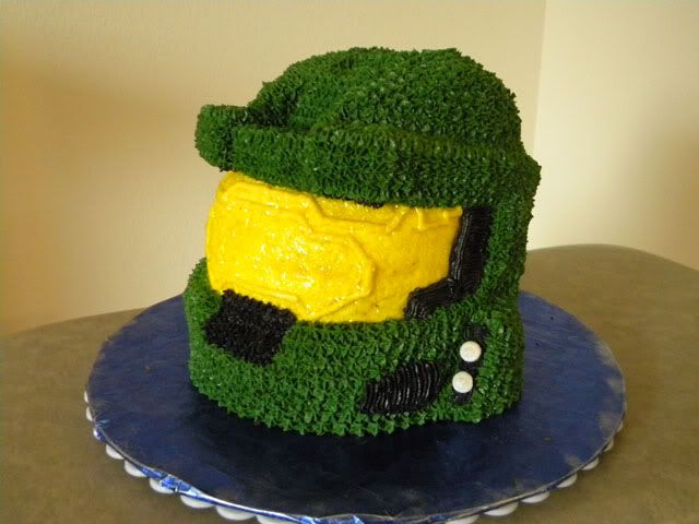 halo master chief hel,et cake | ... Subject: I made Master Chief's helmet as a 3D cake - pics - Awesome