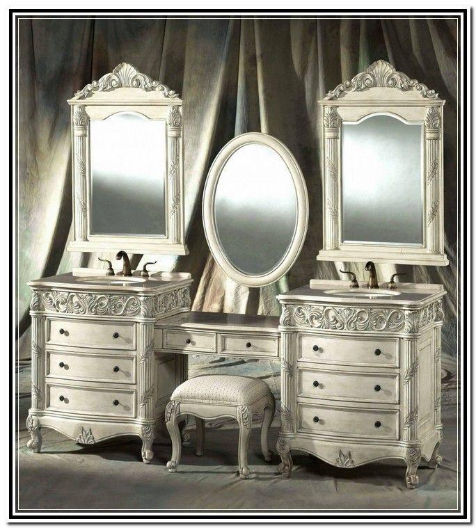 Antique Makeup Vanities For Sale - Vanity : Furniture Reference #BQMqZKDAjl