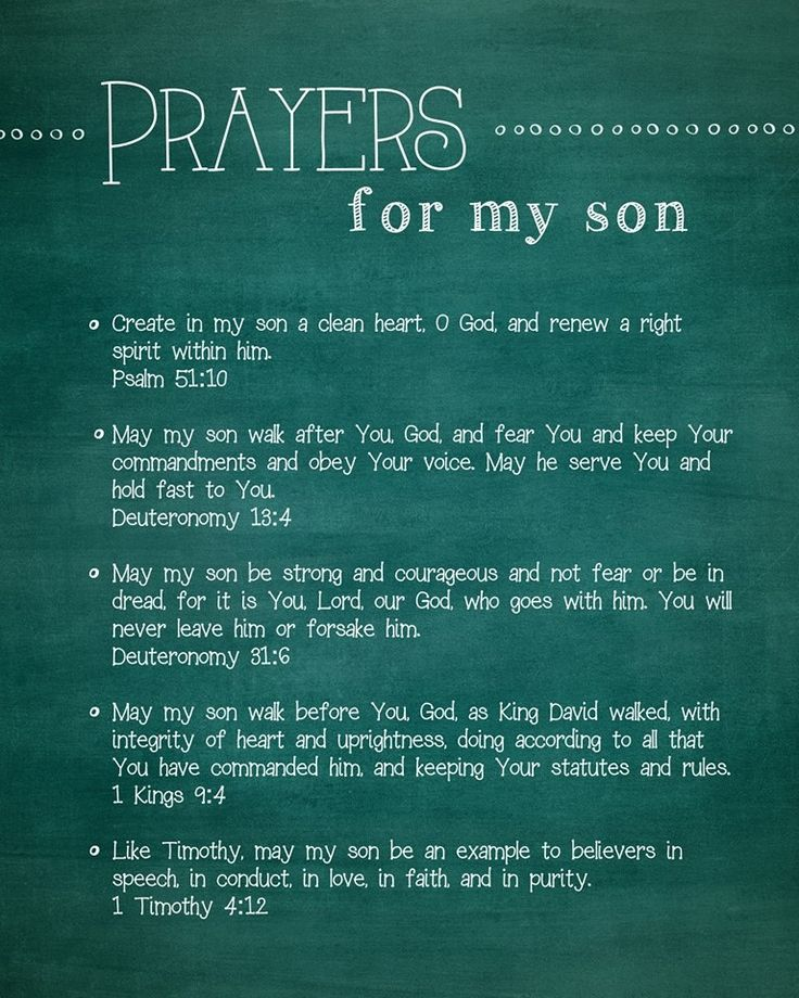 Prayers for my two man cubs...the one who is close to home and the one who is farther away. <3 You are both covered in prayer daily. Hugs <3