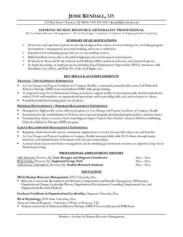 resume examples career change