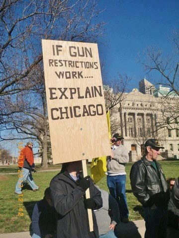 If gun restrictions work, explain Chicago. #guns #rights #guncontrol