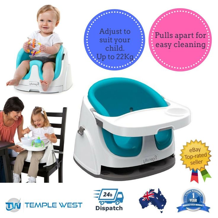 NEW Ingenuity Baby Base 2 in 1 Seat Portable Travel High Chair Blue Convertable