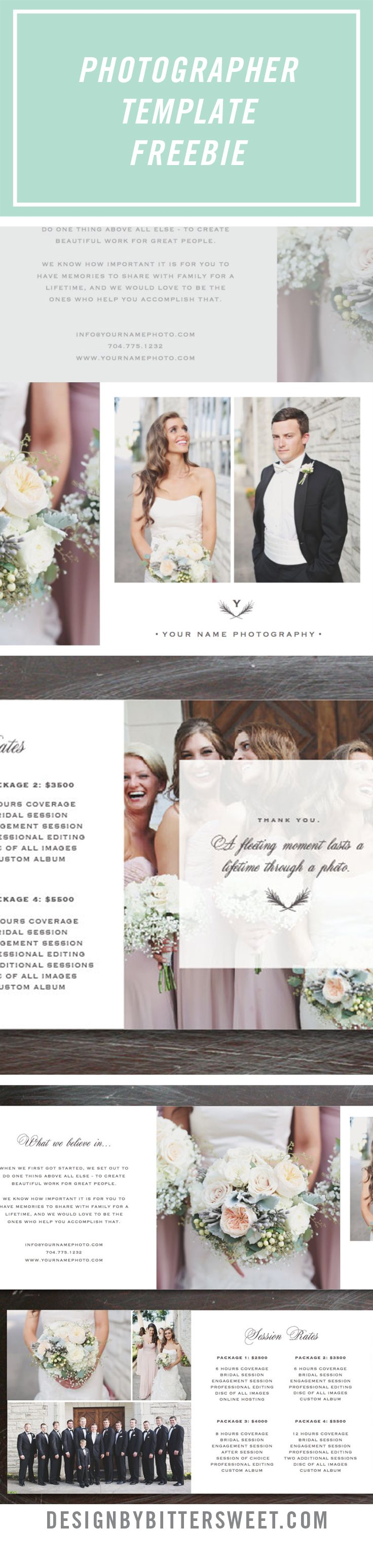 Free Photography Template Wedding